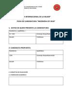 Ficha de Candidatura 2018