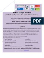 Better Europe Alliance - Response to European Commission 2018 Country Report for Ireland
