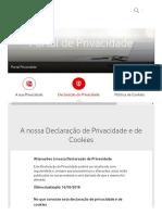 Política Privacidade - Vodafone