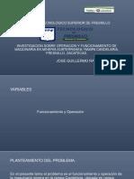 Investigacion Sobre Operación y Funcionamiento de Maquinaria Mineria