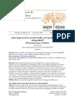 archivos analíticos de políticas educativas -¿Qué lugar tiene la escuela media en la producción de la desigualdad? Elementos para el debate Inés Dussel Área de Educación, FLACSO/ARGENTINA