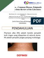 Pityriasis Alba—Common Disease, Enigmatic