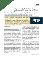 Un proceso de electrodeposición sencillo para la fabricación de mallas de cobre superhidrofóbicas y superoleofílicas para una separación eficiente de aceite y agua..pdf