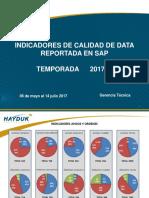 Indicadores Calidad Data SAP