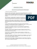 20/05/18 Listos docentes de Sonora para Evaluación del Desempeño -C.051894