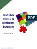 Caracteristicas Tecnicas de Reivindicaciones de Patente