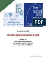 Taller 3 Redaccion Solicitud Patente