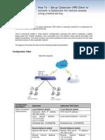 Cyberoam CR & GreenBow IPSec VPN software Configuration