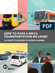 How to Pass a Mega Transportation Measure