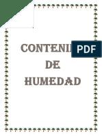 Contenido de Humedad 2018