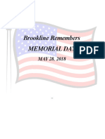 2018 Memorial Day Program