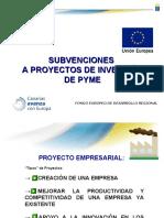 SUBVENCIONES A PROYECTOS DE INVERSIÓN DE PYME