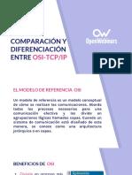 1 Comparación y Diferenciación Entre OSI-TCP2FIP UDP y TCP