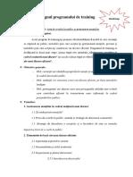 Designul Programului de Training