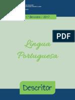 Descritores Língua Portuguesa 1bim 2017