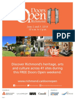 2018 Doors Open Map Brochure