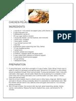 Chicken Pelau