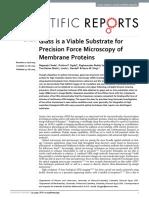 Glass Hydrophilic Treatment for Microscopy