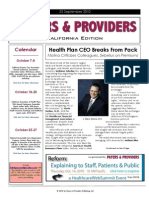 Payers & Providers – Issue of September 23, 2010
