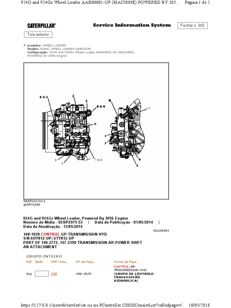 Seletora 924g 13 Cat Engine Diagram