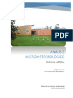 Analisis Micrometeorologia La Molina, Lima, Peru