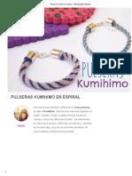 Pulseras Kumihimo en Espiral - Manualidades Infantiles