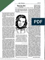 """ABC-22.06.1991-pagina 059 sobre """"Bajo los tilos"""" de Christa Wolf"""