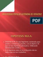 Presentacion de Hipotesis Nula