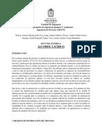 Optimización Del Proceso de Producción de Alcohol Láurico