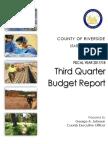 Riverside County Fiscal 2017-18 Third-Quarter Budget Report