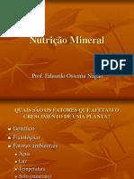 Aula 5 Nutrição Mineral