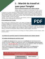 Power Point Chapitre 11 Marché Du Travail Et Politiques Pour l'Emploi 2018