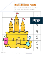Summer Cut and Paste Puzzle