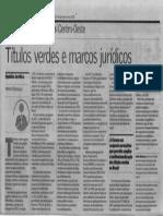 Artigo Valor Econômico_Títulos Verdes