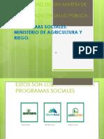 Programas Del Ministerio de Agricultura y Riego