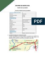 Informe Inspección Puente San Alejandro