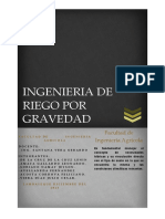 Ingenieria de Riego Por Gravedad