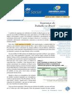 Informe Da Previdencia_segurança Do Trabalho No Brasil
