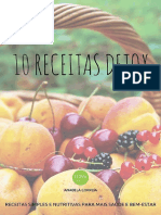 10 Receitas Detox 3 Edição