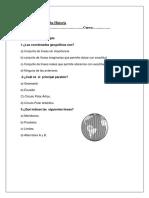 Evaluacion Unidad 1 - Historia cuarto
