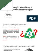 Enegía Renovable e Imp. Biológico