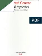 Genette Gérard Palimpsestes. La Littérature Au Second Degré