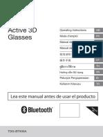 Sony Acitve 3D Glasses TDG-BT500A