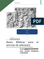 Bases Bíblicas Para El Servicio de Niños. Josias Espinoza Cardenas
