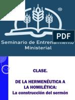 De La Hermenéutica a La Homilética - La Construcción Del Sermón - Sesión de Invierno 2015