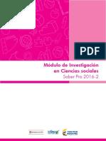 Guia de Orientacion Modulo de Investigacion en Ciencias Sociales Saber Pro 2016 2