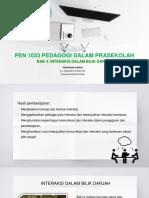 Interaksi Dalam Bilik Darjah_PEN 1033 Pedagogi Dalam Prasekolah