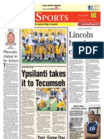 Ypsi Courier sports front 9.23.10