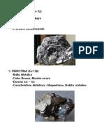 Tipos de Minerale
