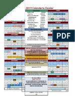 Calendario Ciclo Escolar 2018-2019